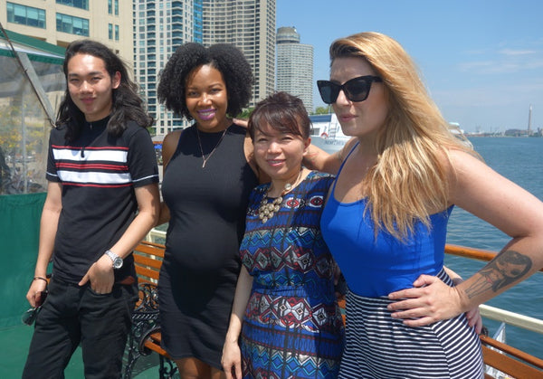 On board Oriole with Lilly Liao of Street Chic and Raymi the Minx