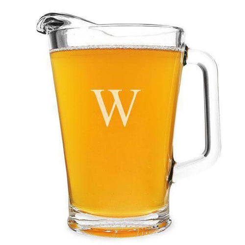Personalized Glass Pitcher (60oz.)-Gourmet Wedding Gifts and Wedding Favors for guests