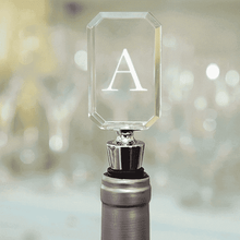 Load image into Gallery viewer, Personalized Acrylic Wine Bottle Stopper - Block Monogram