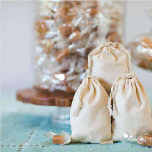 Handcrafted Vegan Sea Salt Caramels (Bulk)-Gourmet Wedding Gifts Personalized custom party favors and corporate event gifts
