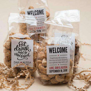 Personalized Artisan Roasted Nuts Gift Bags-Gourmet Wedding Gifts and Wedding Favors for guests