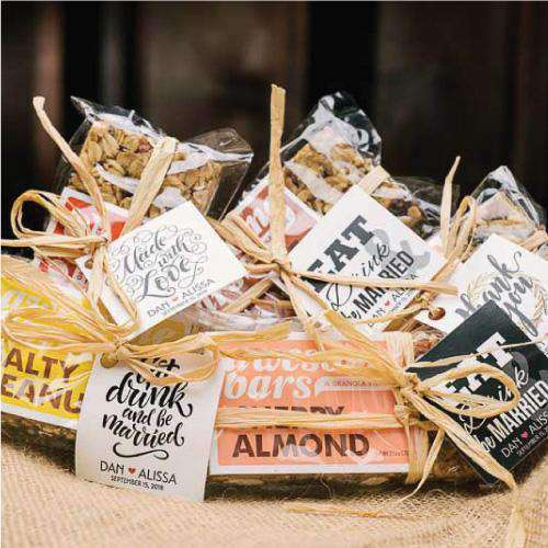 Personalized Small Snack Bar Favors-Gourmet Wedding Gifts Personalized custom party favors and corporate event gifts