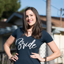"Load image into Gallery viewer, Premium Fitted ""Bride"" V Neck-Gourmet Wedding Gifts and Wedding Favors for guests"