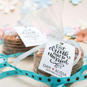 Personalized Stroopwafel Cookie Gift Bag Favors-Gourmet Wedding Gifts Personalized custom party favors and corporate event gifts