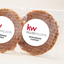 Load image into Gallery viewer, Real Estate Gifts Custom Logo Stroopwafel Cookies