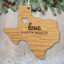 Load image into Gallery viewer, Custom Engraved Home State Wood Ornament