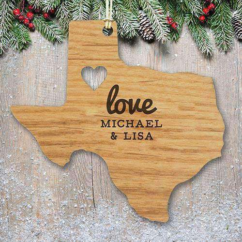 ... Custom Engraved Home State Wood Ornament-Gourmet Wedding Gifts Personalized custom party favors and corporate ...