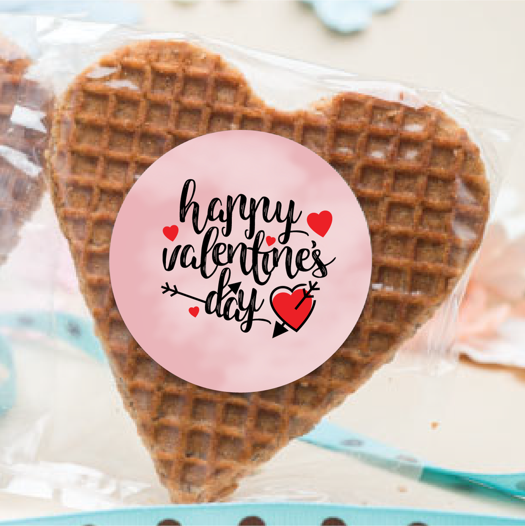 Personalized Valentine's Day Stroopwafel Hearts
