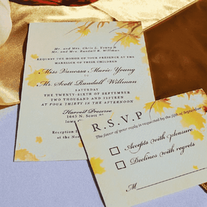 Custom Paper Invitation Suite (200+ invitations)-Gourmet Wedding Gifts Personalized custom party favors and corporate event gifts