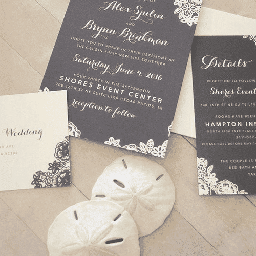 Custom Paper Invitation Suite (200+ invitations)-Gourmet Wedding Gifts and Wedding Favors for guests