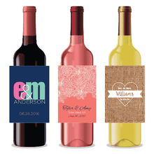 Load image into Gallery viewer, Personalized Wedding Wine Labels-Gourmet Wedding Gifts and Wedding Favors for guests