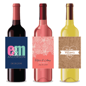 Personalized Wedding Wine Labels-Gourmet Wedding Gifts and Wedding Favors for guests