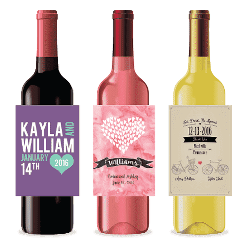 Personalized Wedding Wine Labels-Gourmet Wedding Gifts Personalized custom party favors and corporate event gifts
