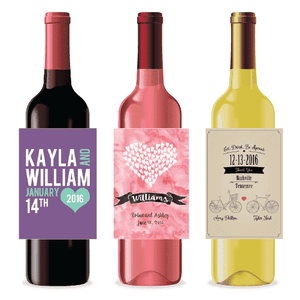 Wedding Wine Labels.Personalized Wedding Wine Labels