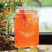 Load image into Gallery viewer, Personalized Boho Bridal Party Mason Jar Glass-Gourmet Wedding Gifts Personalized custom party favors and corporate event gifts