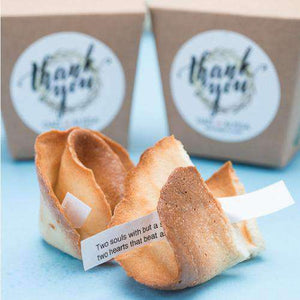 Personalized Fortune Cookies with Individual Gift Boxes-Gourmet Wedding Gifts Personalized custom party favors and corporate event gifts