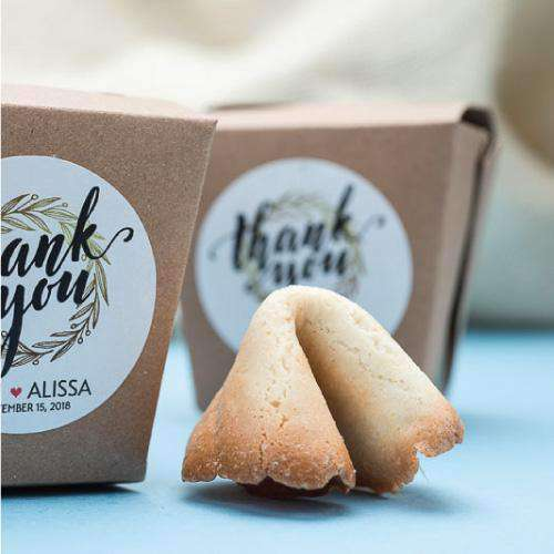Personalized Fortune Cookies with Individual Gift Boxes-Wedding Favors Gourmet Wedding Gifts and edible wedding favors
