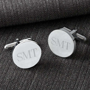 Custom Engraved Classic Round Cufflinks