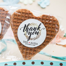 Load image into Gallery viewer, *BEST SELLERS* Personalized Heart Stroopwafel Cookie Party Favors-Gourmet Wedding Gifts and Wedding Favors for guests