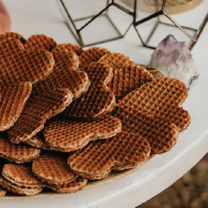 Unique Wedding Place Cards: Personalized Stroopwafel Cookies-Gourmet Wedding Gifts and Wedding Favors for guests