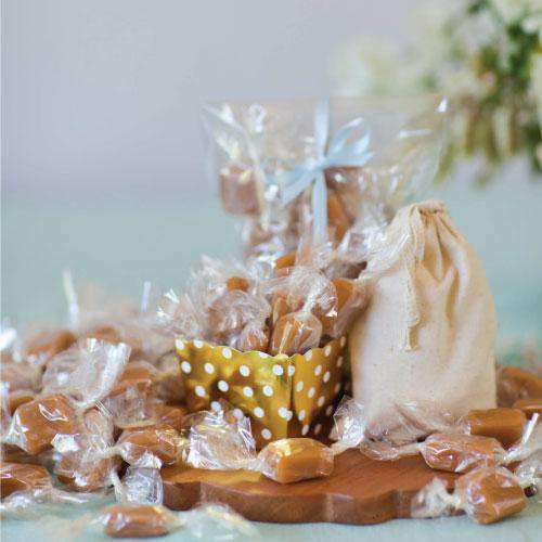 Handcrafted Sea Salt Caramels (1 lb bag)-Wedding Favors Gourmet Wedding Gifts and edible wedding favors