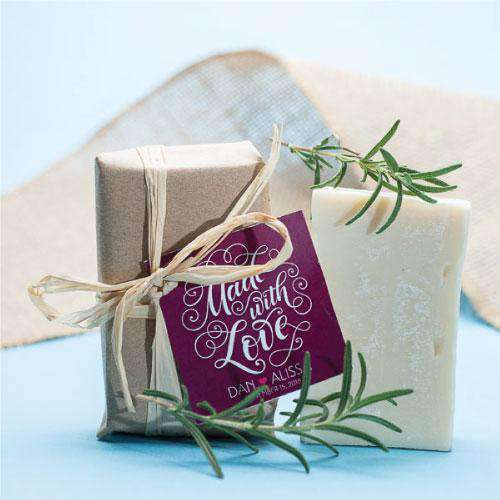 Rosemary Soap Wedding Favors-Gourmet Wedding Gifts Personalized custom party favors and corporate event gifts