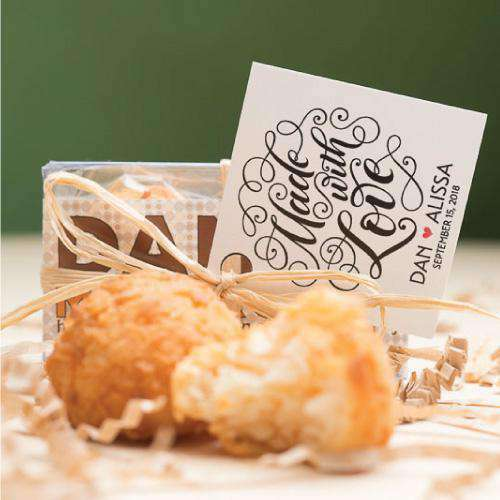 Personalized 2 Piece Macaroon Gift Box-Wedding Favors Gourmet Wedding Gifts and edible wedding favors