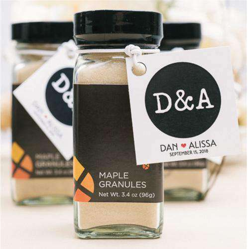 100% Pure Maple Granule Jar Favors
