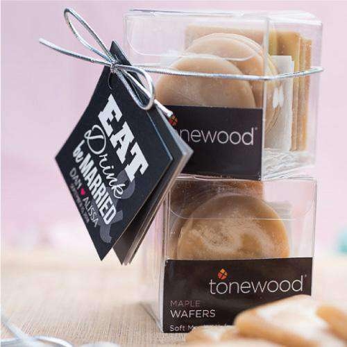 100% Pure Maple Wafer Gift Box Favors-Gourmet Wedding Gifts Personalized custom party favors and corporate event gifts