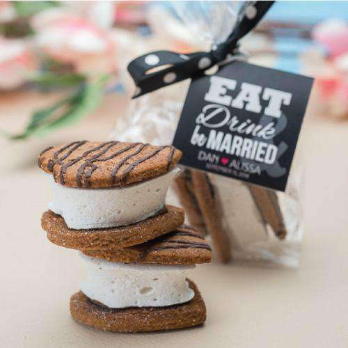 Personalized Mini Heart S'more Favors-Gourmet Wedding Gifts Personalized custom party favors and corporate event gifts