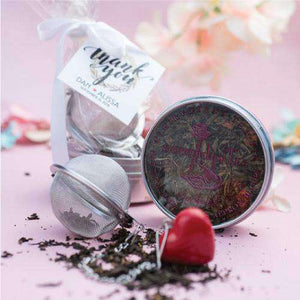 Personalized Organic Tea Tin & Infuser Gift Bag Favors