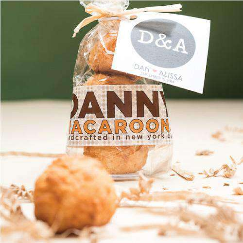 Personalized 3 Piece Mini Macaroon Gift Bag-Wedding Favors Gourmet Wedding Gifts and edible wedding favors