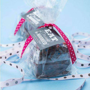 Personalized Brownie Gift Bags-Gourmet Wedding Gifts Personalized custom party favors and corporate event gifts