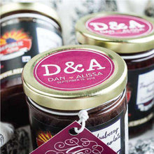 Load image into Gallery viewer, Personalized Artisan Jam Favors-Gourmet Wedding Gifts Personalized custom party favors and corporate event gifts