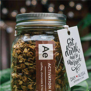 Personalized Large Granola Mason Jar Favors