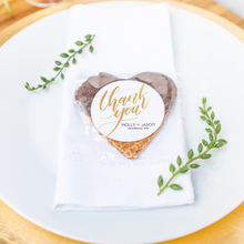 Load image into Gallery viewer, Personalized Chocolate Dipped Stroopwafel Hearts
