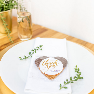 Personalized Chocolate Dipped Stroopwafel Hearts