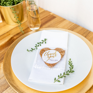 Personalized Classic Stroopwafel Heart Wedding Favors-Gourmet Wedding Gifts and Wedding Favors for guests