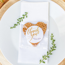 Load image into Gallery viewer, Personalized Classic Stroopwafel Heart Wedding Favors