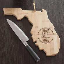 Load image into Gallery viewer, Personalized Florida Home State Wood Cutting Board-Gourmet Wedding Gifts Personalized custom party favors and corporate event gifts