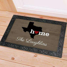 "Load image into Gallery viewer, Personalized ""Home"" Home State Doormat-Gourmet Wedding Gifts Personalized custom party favors and corporate event gifts"