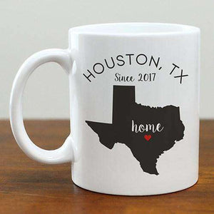Personalized Heart Home State Mug