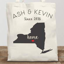 Load image into Gallery viewer, Personalized Home State Tote Bag (All 50 States)