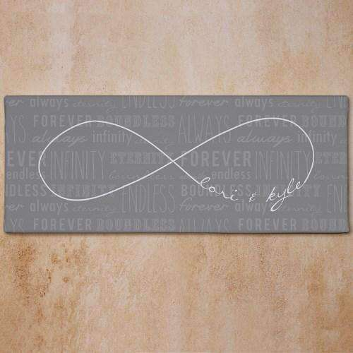 Personalized Infinity Symbol Canvas Wall Art