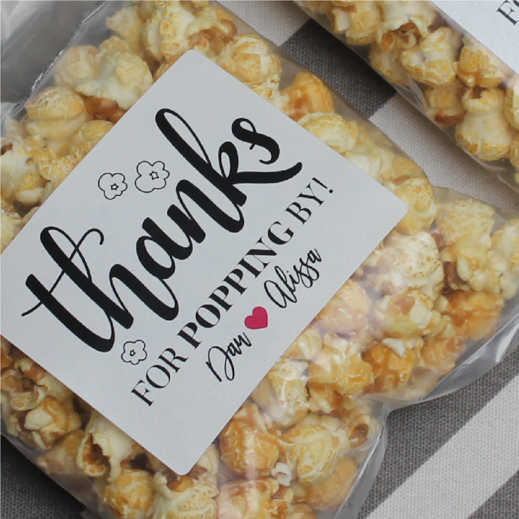 Freshly Popped Personalized Caramel Popcorn Bags
