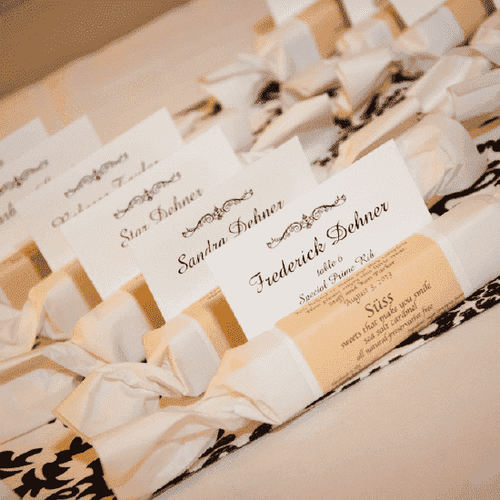 Personalized Caramel Roll Favors-Gourmet Wedding Gifts Personalized custom party favors and corporate event gifts