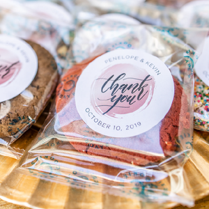 Personalized Gourmet Cookie Wedding Favors