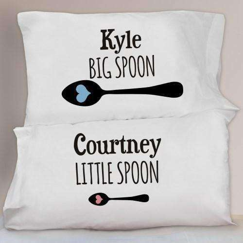 Big Spoon & Little Spoon Pillowcase Set-Pillow Gourmet Wedding Gifts and edible wedding favors