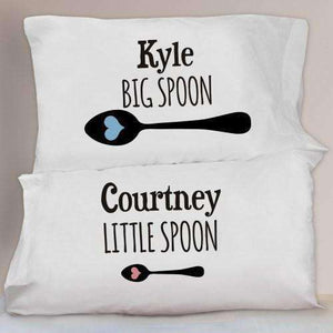Personalized Big & Little Spoon Pillowcase Set-Gourmet Wedding Gifts Personalized custom party favors and corporate event gifts