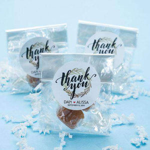 Personalized 2 Piece Caramel Favors